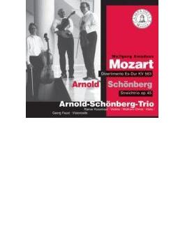 Divertimento K.563: Arnold Schoenberg Trio +schoenberg: Trio