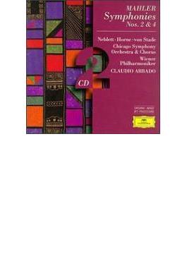 交響曲第2番『復活』、第4番 アバド&シカゴ響、ウィーン・フィル