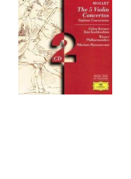 ヴァイオリン協奏曲全集 ギドン・クレーメル、ニコラウス・アーノンクール&ウィーン・フィル(2CD)
