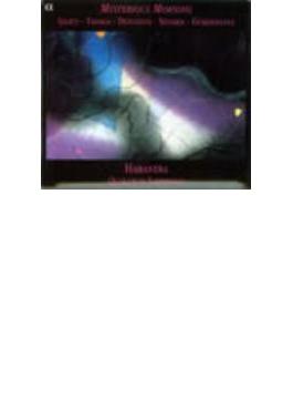 リゲティ、ドナトーニ、クセナキス、棚田文紀:ミステリアス・モーニング アバネラ・サクソフォンQ/棚田文紀(p)/他