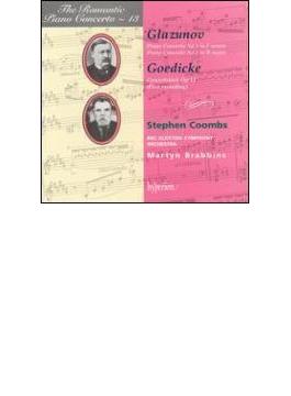 (ロマンティック・ピアノ協奏曲集 第13巻)グラズノフ&ゴーディック:ピアノ協奏曲 クームズ(p)/ブラビンズ