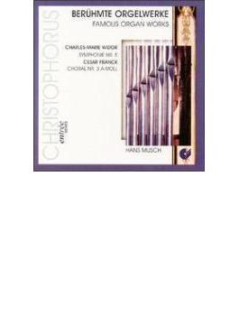 Organ Symphony.5 / Choral.3, Etc: Musch