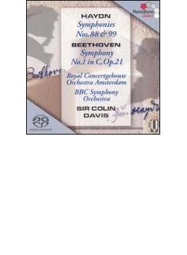 交響曲第88,99番 C.デイヴィス&コンセルトヘボウ管、ベートーヴェン:第1番 C.デイヴィス&BBC響