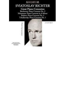 リヒテル(p) ピアノ協奏曲集(ベートーヴェン3番、ブラームス2番、チャイコフスキー1番、シューマン) アーベントロート、コンドラシン、アンチェル、他