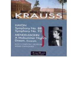 ハイドン:交響曲第88番、第93番、メンデルスゾーン:『真夏の夜の夢』より クラウス&バイエルン放送響、ウィーン響