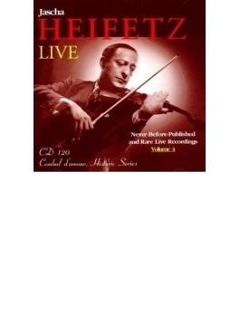モーツァルト:ヴァイオリ協奏曲第4番、ヴァイオリン小品集 ハイフェッツ、クーセヴィツキー&ボストン響、他