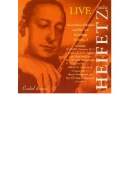 シベリウス:ヴァイオリン協奏曲、モーツァルト:ヴァイオリン協奏曲第5番、ハイフェッツ、ミトロプーロス、クルツ、ニューヨーク・フィル