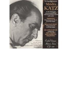 プロコフィエフ:ピアノ協奏曲第1番、ハチャトゥリアン:ピアノ協奏曲、他 カッツ、ボールト&ロンドン・フィル