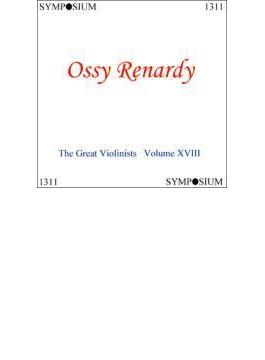 Great Violinists Vol.18 Renardy(Vn) Paganini, Zarzycki, Dvorak, Ernst, Etc