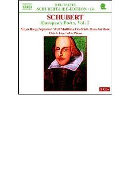<シューベルト・ドイツ語歌曲全集14-ヨーロッパの詩人による歌曲集2> ボーグ/フリードリヒ/アイゼンロール
