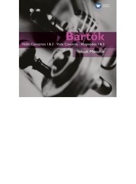 ヴァイオリン協奏曲第1番、第2番、ヴィオラ協奏曲、無伴奏ヴァイオリン・ソナタ、他 メニューイン、ドラティ指揮、他(2CD)