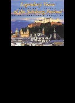 Legendary Voices Of The Salzburg Festival: Tauber, Rethberg, Lehmann, Etc