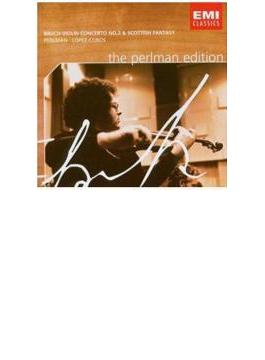 ヴァイオリン協奏曲第2番、スコットランド幻想曲 パールマン、ロペス・コボス&ニュー・フィルハーモニア管