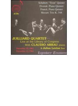 Juilliard.sq & Arrau Piano Quintet-schubert, Franck, Dvorak +mozart: Trio