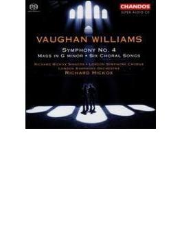ヴォーン・ウィリアムズ:交響曲第4番、ミサ ト短調ほか/ヒコックス(指揮)、ロンドン交響楽団&合唱団ほか