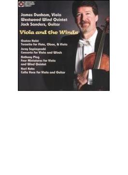 Works For Viola & Winds Holst, Sapieyevski, Etc: Dunham(Va)westwood Wind Qu