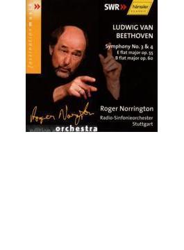 交響曲第3番『英雄』、第4番 ノリントン / シュトゥットガルト放送響(2002年)