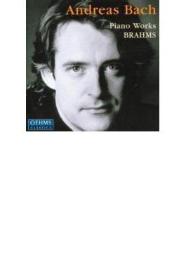 ブラームス:ラプソディ、スケルツォ、シューマンの主題による変奏曲とフーガ、創作主題による変奏曲、ハンガリーの歌による変奏曲 アンドレアス・バッハ(P)