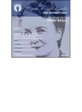 Unforgettable Isobel Baillieworks By Handel, Bach, Arne, Offenbach, , ,