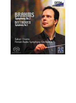 ブラームス:交響曲第2番、ベートーヴェン:交響曲第5番『運命』 サカリ・オラモ&フィンランド放送交響楽団