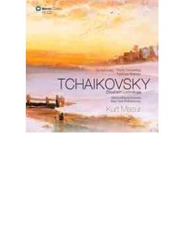 交響曲全集&ピアノ協奏曲全集 マズア&ゲヴァントハウス管、NYP、レオンスカヤ(p)(10CD)
