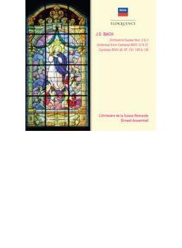 管弦楽組曲第2番、第3番、カンタータ集 アンセルメ&スイス・ロマンド管弦楽団、アーメリング、ギーベル、他(2CD)