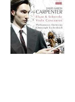 エルガー:チェロ協奏曲(ヴィオラ編曲版)、シュニトケ:ヴィオラ協奏曲 D・A・カーペンター(va)、エッシェンバッハ&フィルハーモニア管