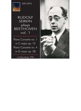 ピアノ協奏曲第1番、第4番 ゼルキン、カラッチオーロ&RAIナポリ・スカルラッティ管、スカーリャ&RAIローマ響(1958)