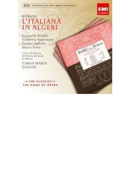 『アルジェのイタリア女』全曲 ジュリーニ&スカラ座、シュッティ、シミオナート、他(1954 モノラル)(2CD)