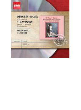 ドビュッシー:弦楽四重奏曲、ラヴェル:弦楽四重奏曲、ストラヴィンスキー:3つの小品、コンチェルティーノ、二重カノン アルバン・ベルク四重奏団