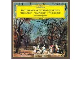 ハイドン:弦楽四重奏曲『ひばり』、『皇帝』、モーツァルト:弦楽四重奏曲『狩り』 アマデウス四重奏団