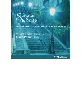 ケクラン:ヴィオラ・ソナタ、トゥルヌミール:3つの組曲、ブレヴィル:ヴィオラ・ソナタ スティーヴン・ダン