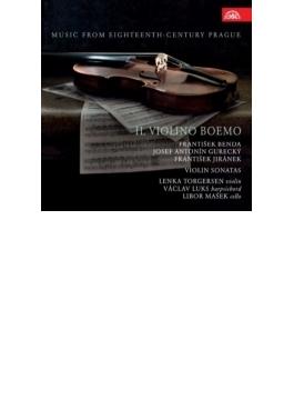 『ボヘミアのヴァイオリン~18世紀プラハのヴァイオリン・ソナタ集~F.ベンダ、イラーセク、グレツキー』 レンカ・トルゲルセン