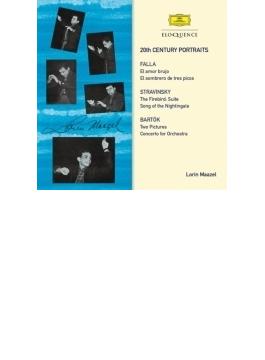 バルトーク:管弦楽のための協奏曲、ストラヴィンスキー:『火の鳥』組曲、ファリャ:『恋は魔術師』、他 マゼール&ベルリン・フィル、ベルリン放送響(2CD)