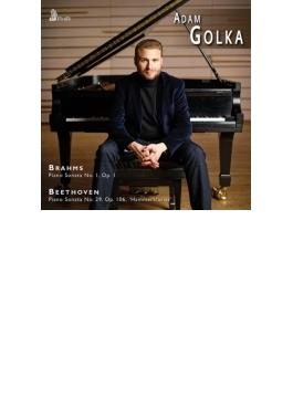 ベートーヴェン:ピアノ・ソナタ第29番『ハンマークラヴィーア』、ブラームス:ピアノ・ソナタ第1番 アダム・ゴルカ