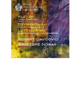 Violin Concerto: Davidovici(Vn) G.nowak / Rpo +szymanowski: Concerto, 2, Lutoslawski: Partita