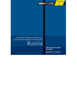 『ロシア無伴奏合唱曲集~ラフマニノフ、タネーエフ、シュニトケ、グバイドゥーリナ、グリンカ、チャイコフスキー』 クリード&シュトゥットガルト声楽アンサンブル