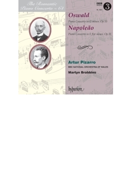 ナポレアン:ピアノ協奏曲第2番、オスワルド:ピアノ協奏曲 ピザーロ、ブラビンズ&BBCウェールズ・ナショナル管