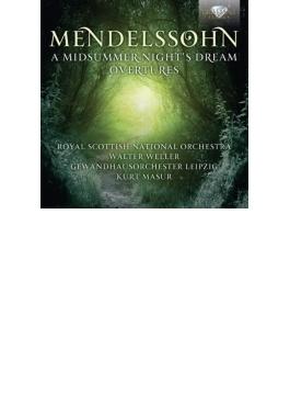 『真夏の夜の夢』、序曲集 ヴェラー&スコティッシュ・ナショナル管、マズア&ゲヴァントハウス管 (2CD)