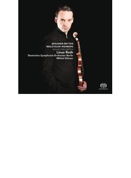 ヴァインベルグ:ヴァイオリン協奏曲、ブリテン:ヴァイオリン協奏曲 リナス・ロス、キュトソン&ベルリン・ドイツ響