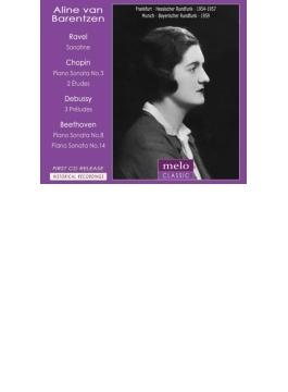 ベートーヴェン:ピアノ・ソナタ第14番『月光』、第8番『悲愴』、ショパン:ピアノ・ソナタ第3番、ドビュッシー、ラヴェル バレンツェン(1954~59)