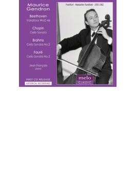 ブラームス:チェロ・ソナタ第2番、フォーレ:チェロ・ソナタ第2番、ショパン:チェロ・ソナタ、他 ジャンドロン、フランセ(1955、62)
