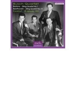 ベートーヴェン:弦楽四重奏曲第14番、ブラームス:弦楽四重奏曲第1番 ブッシュ四重奏団(1951)