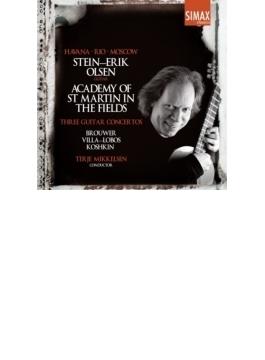 ブローウェル:コンチェルト・エレジアーコ、ヴィラ=ロボス:ギター協奏曲、コシュキン:ベルゲン協奏曲 オルセン、ミケルセン&アカデミー室内管
