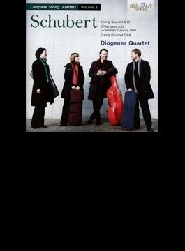 弦楽四重奏曲全集第3集~第1番、第5番、他 ディオゲネス四重奏団