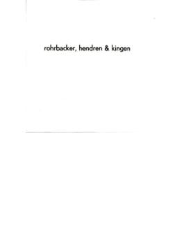 Rohrbacker.hendren & Kingen (紙ジャケット)