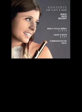 Concerto For Flute & Harp: M.c.munoz(Fl) O'brien(Hp) Basel Co +c.p.e.bach, Henze (Hyb)