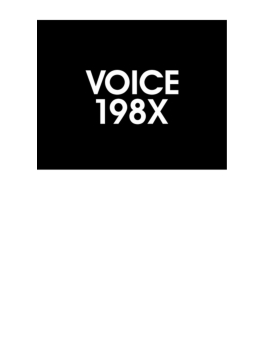 VOICE 198X (+DVD)【プレミアム盤】