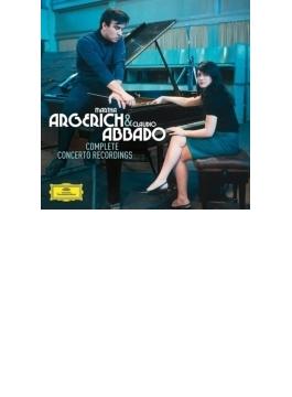 ピアノ協奏曲録音集 アルゲリッチ、アバド&ベルリン・フィル、ロンドン響、モーツァルト管、マーラー・チェンバー・オーケストラ(5CD)