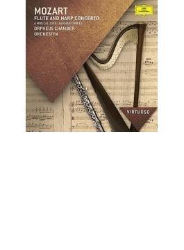 フルートとハープのための協奏曲、音楽の冗談、ドイツ舞曲集 オルフェウス室内管弦楽団、S.パルマ、N.アレン
